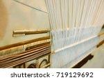 the complex thai silk making...   Shutterstock . vector #719129692