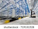 new cold room storage.... | Shutterstock . vector #719131528