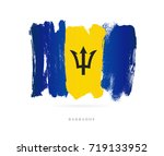 flag of barbados. vector... | Shutterstock .eps vector #719133952