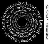 math formulas on black...   Shutterstock .eps vector #719140792