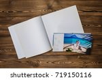 open book with a photo couples... | Shutterstock . vector #719150116
