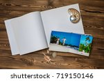 open book with a photo couples... | Shutterstock . vector #719150146