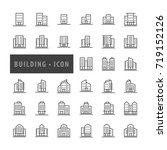 building icons set  urban icon... | Shutterstock .eps vector #719152126