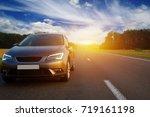 car on asphalt road in summer | Shutterstock . vector #719161198