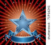 vector blue star on the red... | Shutterstock .eps vector #71916241