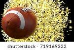american football balls with... | Shutterstock . vector #719169322