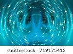 abstract background blue light... | Shutterstock . vector #719175412