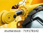 hydraulics tractor yellow....   Shutterstock . vector #719178142