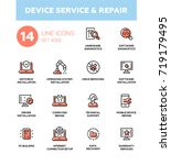 device service repair   modern... | Shutterstock .eps vector #719179495