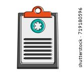 medical history healthcare icon ... | Shutterstock .eps vector #719180596