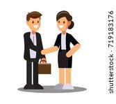businessman character design ... | Shutterstock .eps vector #719183176