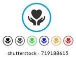 love heart care hands rounded... | Shutterstock .eps vector #719188615