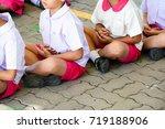 group of asian kindergarten... | Shutterstock . vector #719188906