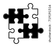 puzzle pieces icon image  | Shutterstock .eps vector #719191516