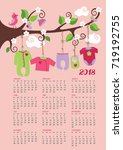 new yearcalendar 2018.baby... | Shutterstock .eps vector #719192755
