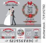 wedding invitation card.vintage ... | Shutterstock .eps vector #719192782