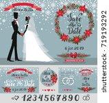 wedding invitation card.vintage ... | Shutterstock .eps vector #719193292