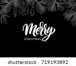 christmas postcard with modern... | Shutterstock .eps vector #719193892