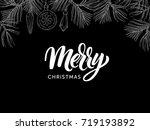 christmas postcard with modern... | Shutterstock .eps vector #719193892