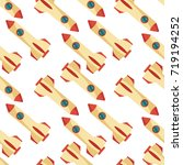 seamless pattern with space... | Shutterstock .eps vector #719194252