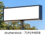 blank billboard with blue sky... | Shutterstock . vector #719194858