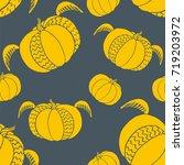 Pumpkin Seamless Pattern. Cute...