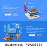 mathematics and economics... | Shutterstock .eps vector #719208886