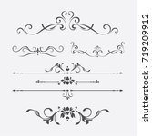 calligraphic design elements | Shutterstock .eps vector #719209912