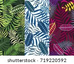 set of three seamless floral... | Shutterstock .eps vector #719220592