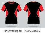 t shirt design  black red  | Shutterstock .eps vector #719228512