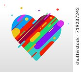 bright heart with colored lines ... | Shutterstock .eps vector #719237242