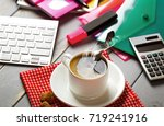 coffee in a composition with... | Shutterstock . vector #719241916