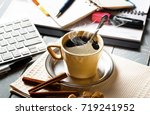 coffee in a composition with... | Shutterstock . vector #719241952