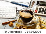coffee in a composition with... | Shutterstock . vector #719242006