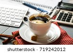 coffee in a composition with... | Shutterstock . vector #719242012
