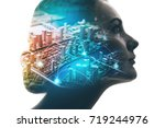 ai artificial intelligence ... | Shutterstock . vector #719244976