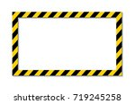 yellow and black stripes on the ... | Shutterstock .eps vector #719245258