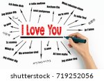 i love you concept. chart with... | Shutterstock . vector #719252056