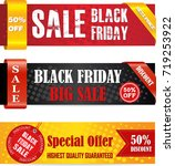 black friday sale banner set....   Shutterstock .eps vector #719253922