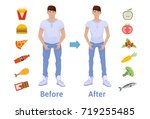 the influence of diet on the... | Shutterstock .eps vector #719255485