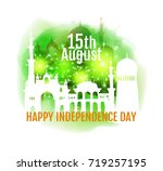 happy india independence day. ... | Shutterstock . vector #719257195