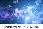 blue and purple plexus...   Shutterstock . vector #719260006
