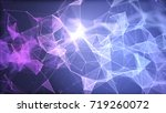 blue and purple plexus...   Shutterstock . vector #719260072