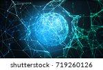 blue plexus structure. abstract ...   Shutterstock . vector #719260126
