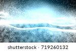 blue abstract 3d field...   Shutterstock . vector #719260132
