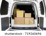 interior of a truck | Shutterstock . vector #719260696