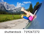 happy family   hands of men and ... | Shutterstock . vector #719267272