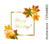 happy thanksgiving card. | Shutterstock .eps vector #719268802