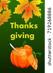 happy thanksgiving card. | Shutterstock .eps vector #719268886