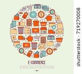 e commerce  shopping concept in ... | Shutterstock .eps vector #719270008